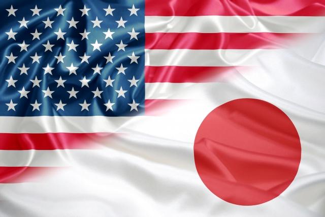 フルブライト奨学生(日米国旗)